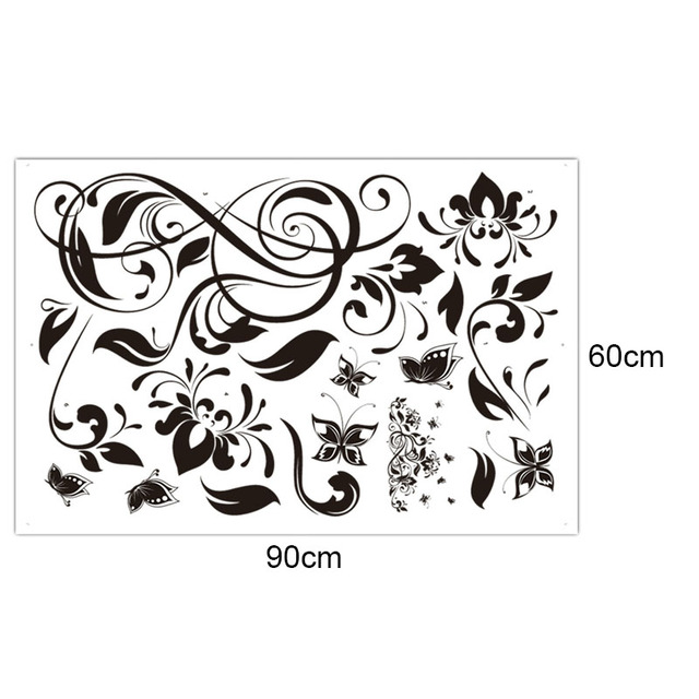 3D Butterfly beautiful Flower Wall Sticker Wall Decals For Kids Room Bedroom Living Room home decor for Sofa TV 5