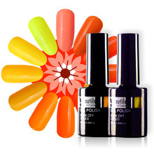 Beautilux Brand 1pc Organic Neon Yellow Orange Color Gel Polish Nail Art Gel Lacquer Nails Gel Varnish Esmaltes 10ml(China)