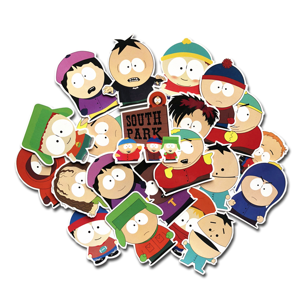 21Pcs The Stick Of Truth Stan Kyle Kenny Cartman Cartoon Laptop Sticker For Kids Toy Gift Decor Decal Stationery Sticker