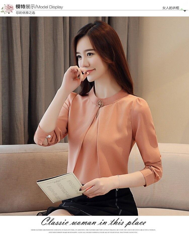 fashion woman blouses 2020 long sleeve chiffon blouse shirt long sleeve women shirts womens tops and blouses blusas femininas 9