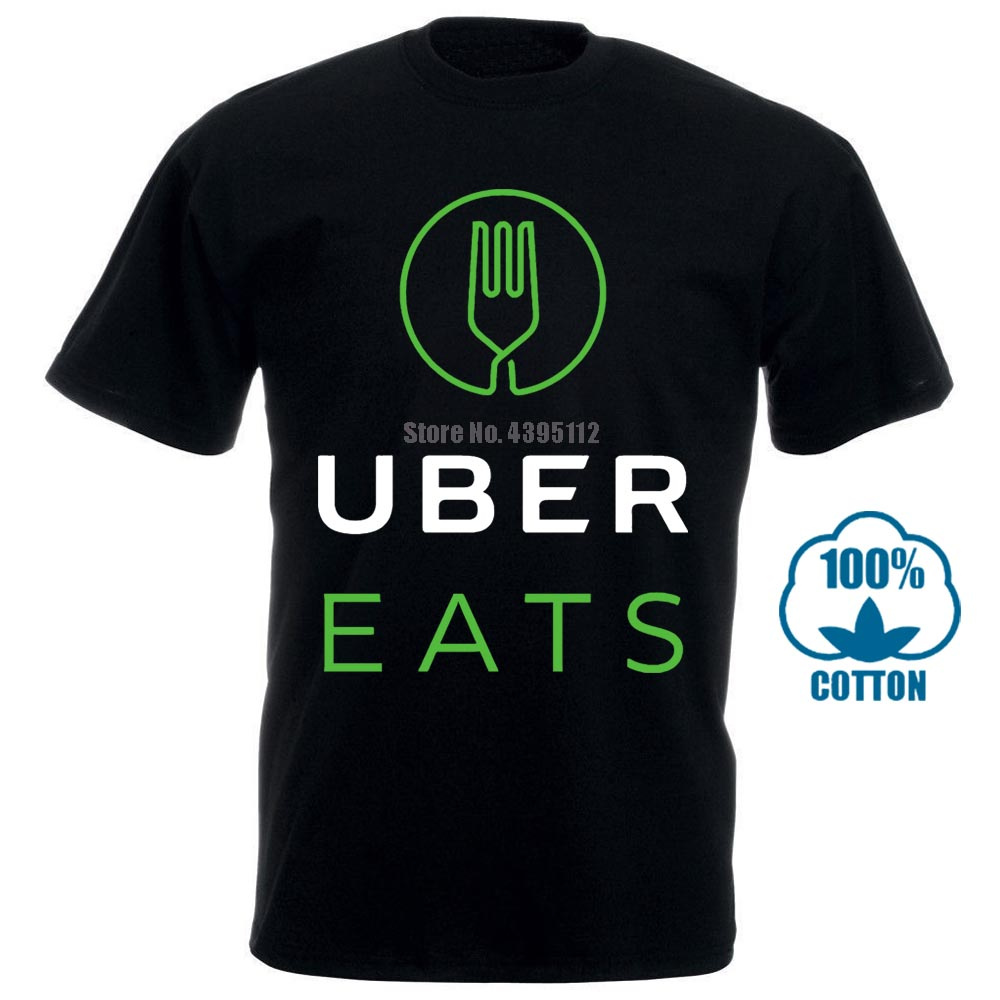 Uber Eats The Food Delivery New Black Shirt 011931