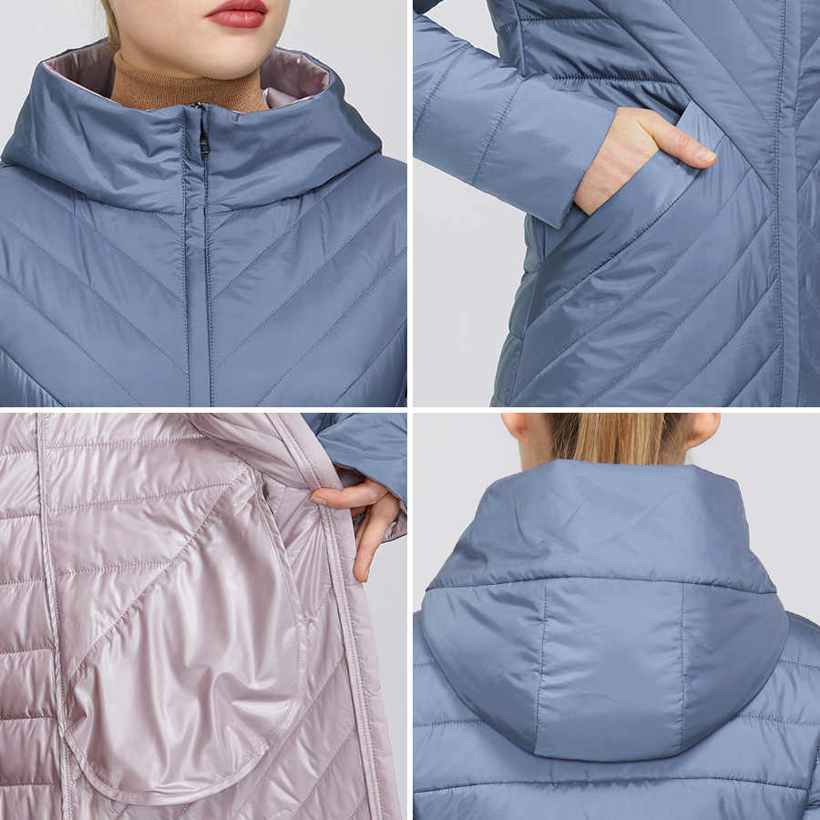 MIEGOFCE 2020 Designerฤดูใบไม้ผลิสตรีเสื้อแจ็คเก็ตซิปและกลางความยาวกันน้ำHoodedหญิงเสื้อกันฝนWindproof
