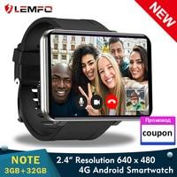 LEMFO LEM-Reloj inteligente para hombre, dispositivo de pulsera con Android 7,1, 3GB+32GB, 2,86 pulgadas, 4G, GPS, WiFi, 2700mAh, con tarjeta SIM