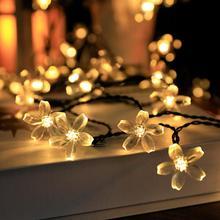 Цветок Ци-фу светодиодный свет строка Фея света для домашнего декоративного освещения декор рождественский декор для дома Фонарик светодиодный с Новым годом