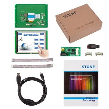 RS232 Serial Interface 8 inch HMI TFT LCD Touch Display with Program Support Any Microcontroller