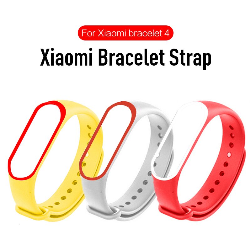 For Mi Band 4 Strap Wrist Strap For Xiaomi Miband 4 Dual Color Silicone For Watch Accessories For Sport Replacement Strap