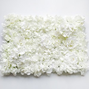 Image 3 - 60*40CM Artificial Flowers Wall Hanging Flower Head Silk Rose Floral For Wedding Backdrop
