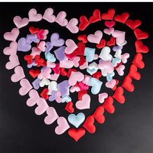 100pcs Hen Party 35mm Sponge Heart Shaped Flower Spread Valentines Day Decoration Gift Single Party Wedding Decoration-7(China)