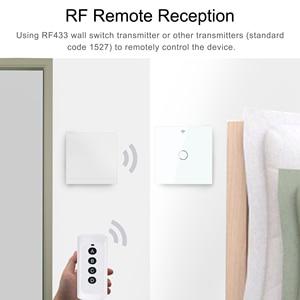 Image 2 - Smart Touch Switch  Wifi Light Switch  EU 1 2 3 Gang  RF Tuya App Voice Wireless Remote Control Works with Alexa Google Home