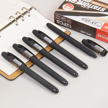 12pcs 1.0mm gold esteem large capacity black pen Office supplies bold sanding rod gel water-based