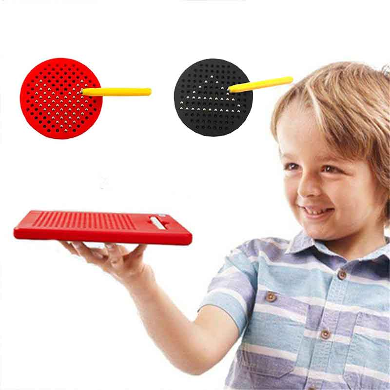 Drawing Board For Children With Steel Ball Pen Plastic Magnetic Tablet Magnet Pad Creative Educational Jigsaw Puzzle Infant