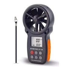 Anémomètre numérique De Compteur de Vitesse De Vent BT-100 pour Mesurer La Vitesse Du Vent, Température et Refroidissement Éolien avec Rétro-Éclairage LCD