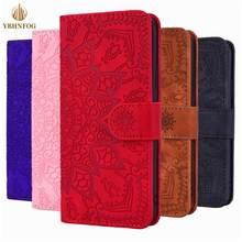 Mandala Blume Flip Fall Für Xiaomi Redmi 6A 7A 8A 9A K20 K30 Hinweis 4X 5 6 7 8T 9S Pro Max Leder Karte Slots Stand Brieftasche Abdeckung