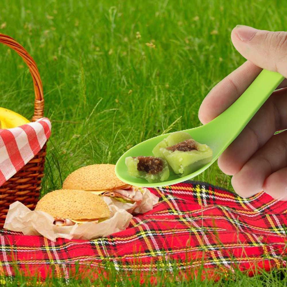 屋外キャンプピクニックスプーン食器耐熱スプーンフォークナイフポータブルキャンプ調理器具スポークキャンプ用品
