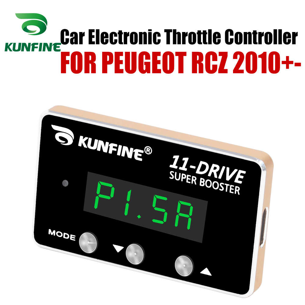 KUNFINEรถElectronic Throttle Controller Racing Accelerator Potent BoosterสำหรับPEUGEOT RCZ 2010 +-หลังจากปรับPart
