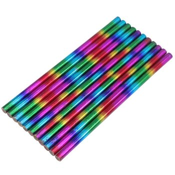 10 pcs Rainbow pencil laser film HB core creative novelty promotional gift personality office supplies - discount item  49% OFF Pens, Pencils & Writing Supplies