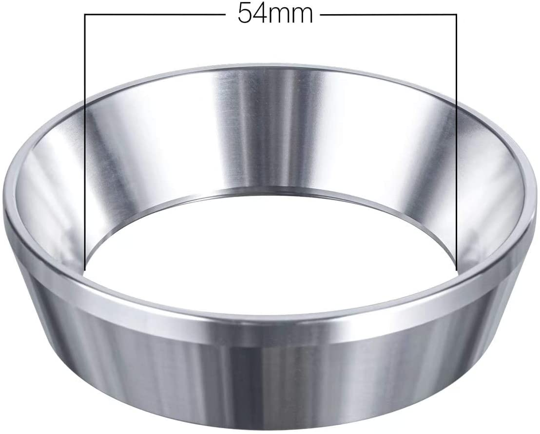 54mm Espresso Dosing Funnel, Stainless Steel Coffee Dosing Ring Compatible With 54mm Breville Portafilter