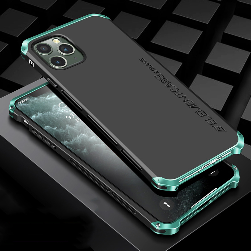 Luxury Shockproof Armor Element Metal Case For Iphone 11 Pro Max Cases Hard Aluminium Plastic Case For Iphone 11/ Pro/ Max Cover