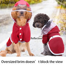 Reflective waterproof rain coat for dogs cat pet small large