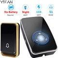 Беспроводной дверной звонок YIFAN  UK  EU  US plug  автономный СВЕТОДИОДНЫЙ ночник  датчик  водонепроницаемый  без батареи  домашний дверной Звонок
