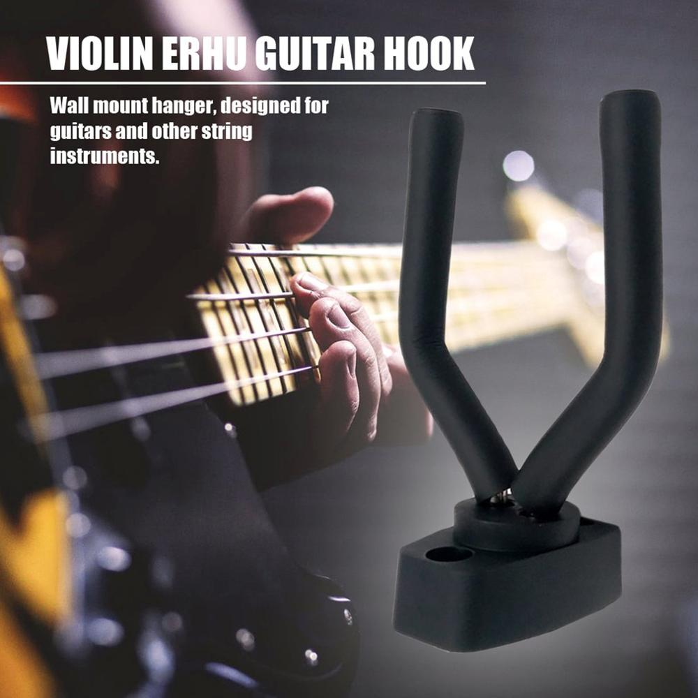 2019 Hot Sale Compact Deisgn Guitar Violin Hanger Stand Wall Mount Hook Holder Fit For Bass Ukulele And More Musical Instruments
