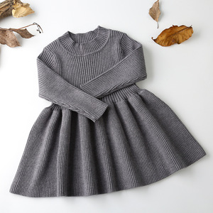 Image 3 - 2020 Autumn Winter Girls Wool Knitted Sweater Baby Girl dress Girls Dresses For Party And Wedding Baby Girl Clothes