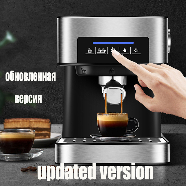 Espresso Electric Coffee Machine Coffee Maker Electric-Horn Cappuccino Capuchinator for Kitchen Household-Appliances 1