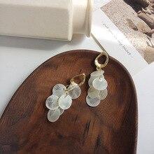 S925 Silver Needle Korean Jewerly Irregular Matte Earrings Temperament Multi Round Shell Drop Women Jewelry