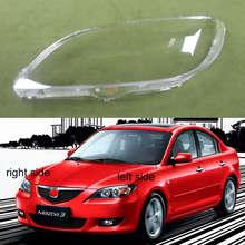 Carcasa de cristal para faro delantero de Mazda 3 M3 (sedán), cubierta de lámpara, 2006, 2007, 2008, 2009, 2010, 2011, 2012,