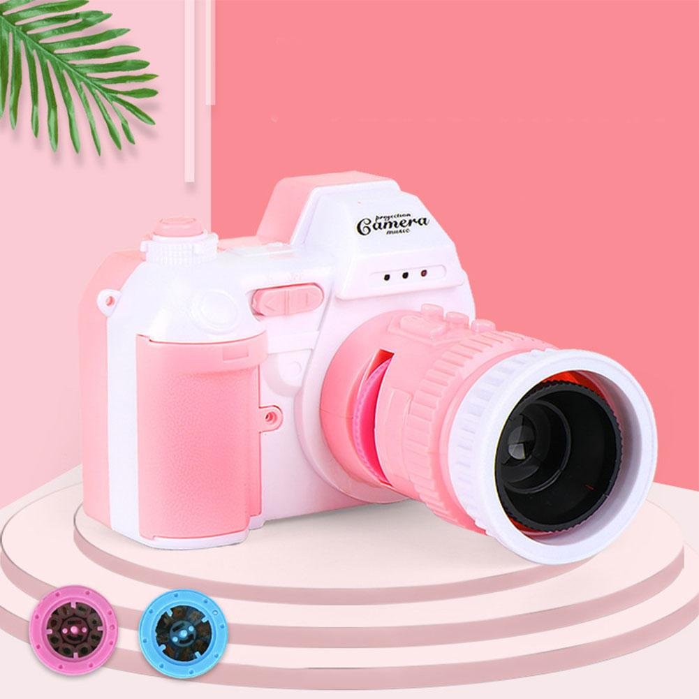 Kids LED Camera Flashing Projection Toys Digital Camera With Sling Luminous Sound Flashlight Children Camera Toy For Projection