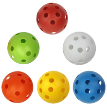 6pcs Plastic Golf Training Balls Practice Accessories Aids for Driving Range/Swing at Home