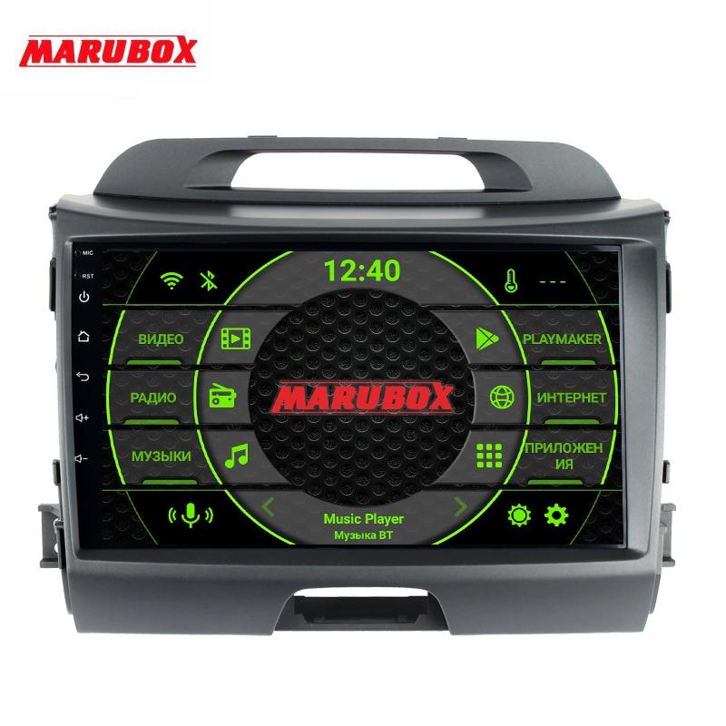 Marubox 996PX5 DSP, Штатная radio tape recorder for Kia Sportage 2010-2016, car multimedia player, 9 ''IPS screen, 64 GB