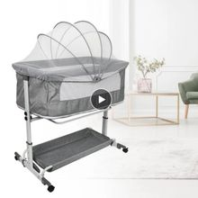 Multifuction Baby Crib Splicing Large Kid Bed Removable Portable Folding Newborn Cot Bedside Baby Bed Cradle Play Bed Combo HWC