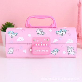 unicorn pencil case Multifunction estojo escolar Kawaii estuche school supplies trousse scolaire stylo box