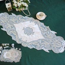 2Size Modern lace tablecloth table flag mat coffee dresser bedside cover cloth wedding Christmas decoration