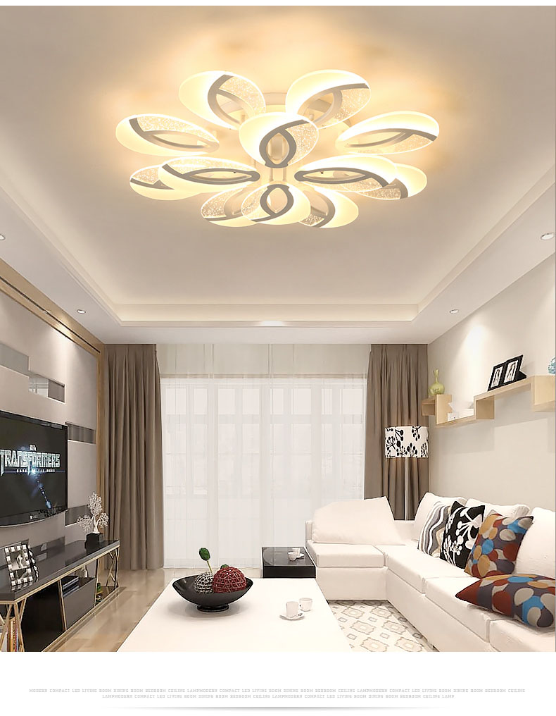 H846d3fe7a1084aac8190b0d2ed4eeb95V Nordic Ceiling lights Novelty post-modern for living room Fixtures bedroom aisle LED ceiling lamp Ceiling lighting