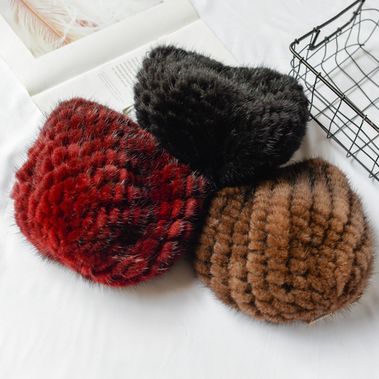 Mink Hat Fashion Autumn And Winter Thermal Mink Hair Pineapple Hat Fur Hat Thermal Mink Hat Female Winter