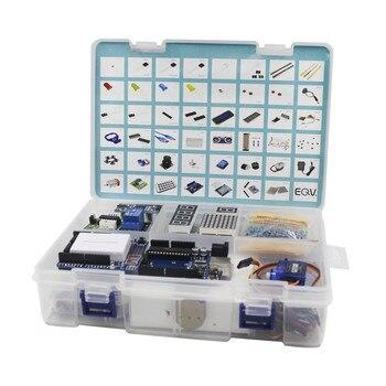 Elego UNO Project, el Kit de arranque más completo para Arduino UNO, R3 Mega2560 Nano con Tutorial/Fuente de alimentación/Motor paso a paso