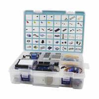 Elego UNO Project el Kit de inicio más completo para Arduino UNO R3 Mega2560 Nano con Tutorial/Fuente de alimentación/Motor paso a paso