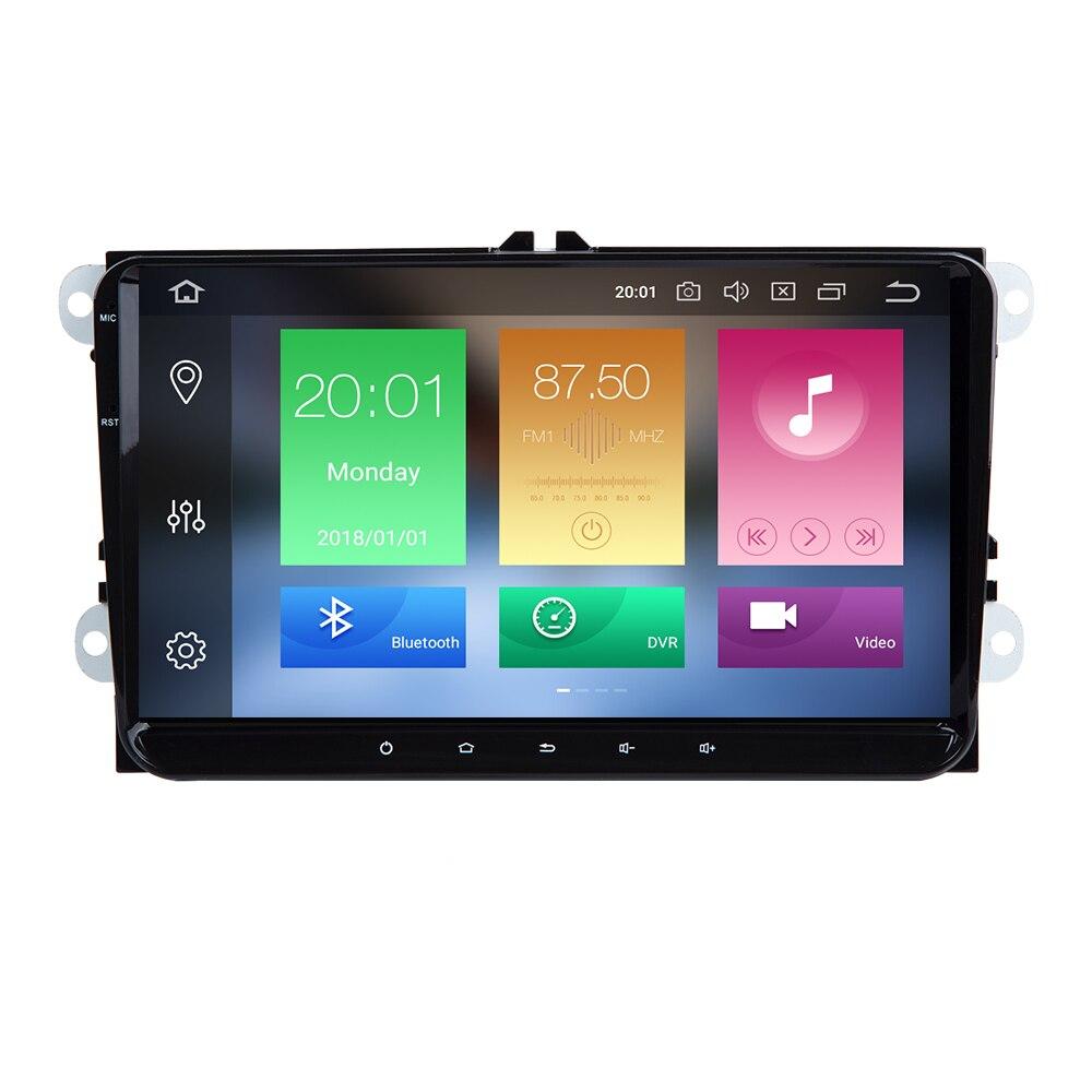 2 Din Android 9 Car Multimedia GPS Navigation For Amarok Volksagen VW Passat B6 golf 56 Skoda Octavia 2 Superb 2 Seat Leon radio in Car Multimedia Player from Automobiles Motorcycles