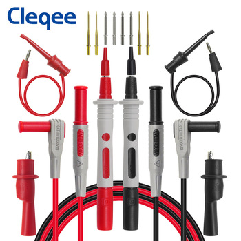 P1308B 8pcs Test Lead Kit probe banana plug to test hook cable Replaceable multimeter probe test wire alligator clip 10a 50a alligator crocodile clip test lead probes battery adapter multimeter pen female probe for 2mm 4mm banana plug cable clip