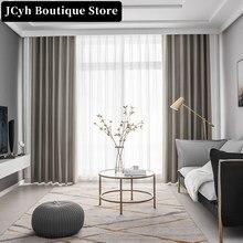 JCyh 100% tende oscuranti moderne per soggiorno camera da letto tinta unita tende impermeabili per trattamento finestre tende Cortinas