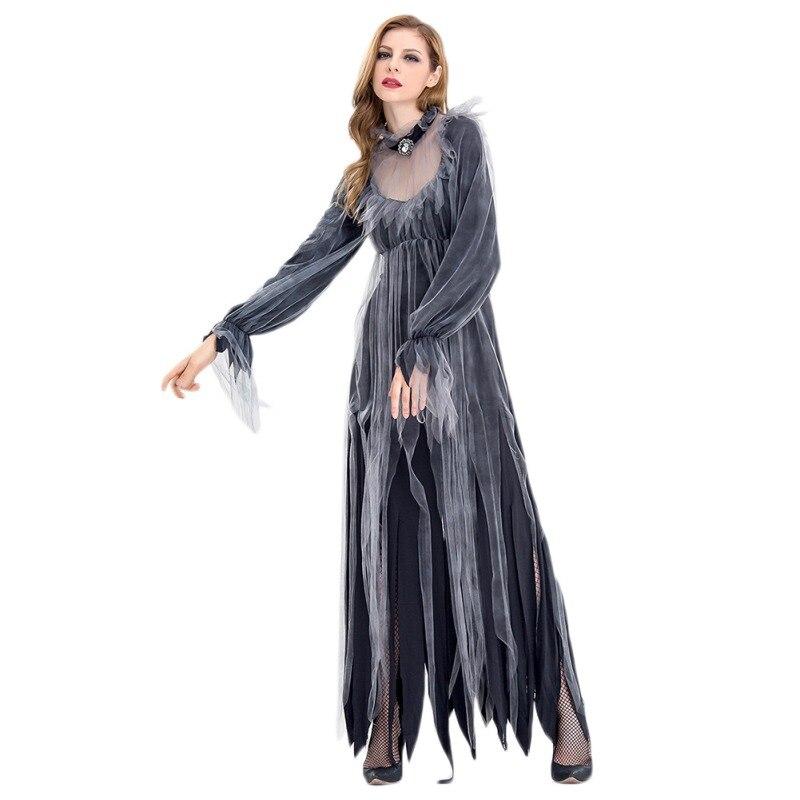 Cosplay Dress Costumes Halloween size M XL Women/'s Black Ghost Bride