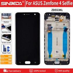 5.5 original digitizer original lcd digitador para asus zenfone 4 selfie zd553kl display lcd e tela de toque com substituição do conjunto do quadro