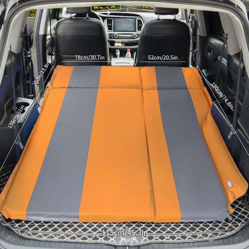 Multi functional Inflatable Car Mattress SUV Back Seat Travel Bed Car Air Mattress Mattress Air Bed  Sofa Pillow Outdoor Camping