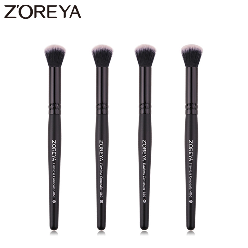 Zoreya Brand Black Concealer Makeup Brush Soft Synthetic Hair Essential Makeup Sets Travel Cosmetic Brushes For Make Up