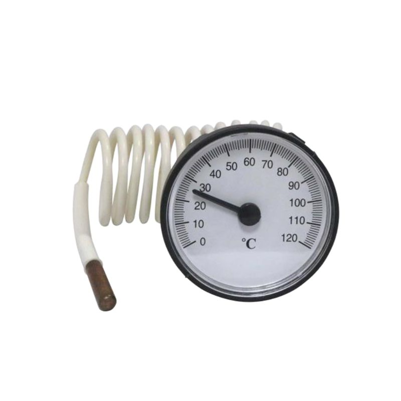 0-120℃ Dial Capillary Thermometer Water Heater Temperature Tester 1.1m Sensor