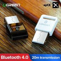 Ugreen USB Bluetooth Receptor transmisor 4,0 Adaptador Dongle aptx inalámbrica auriculares PC Receptor de Audio Bluetooth Adaptador