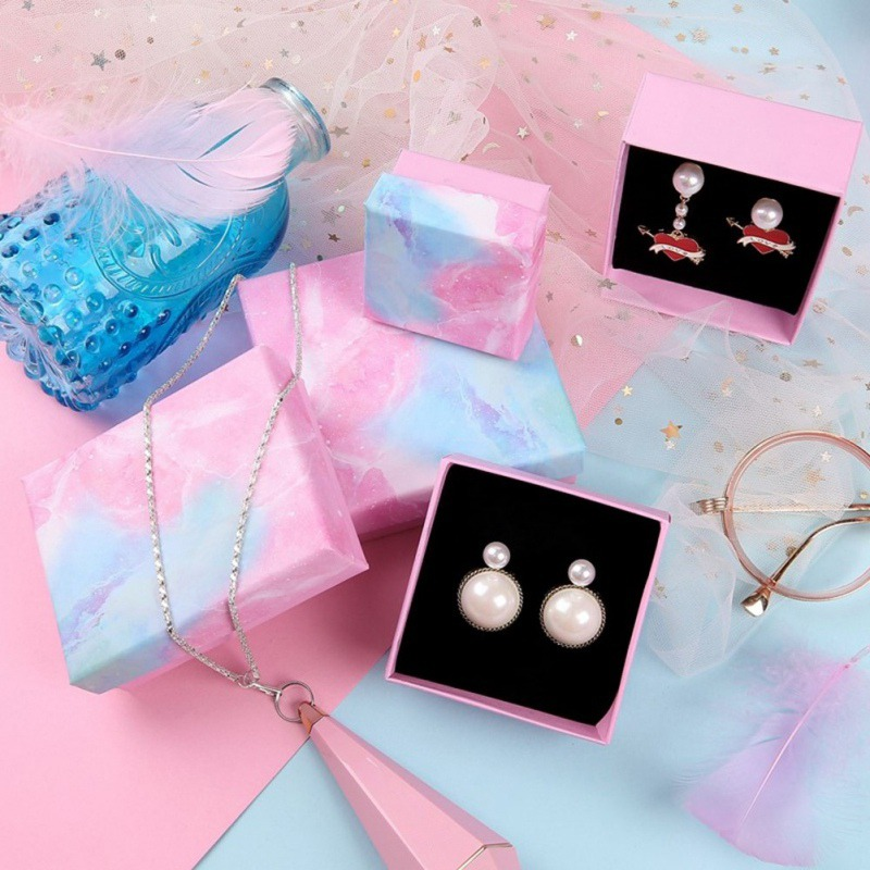 Romantic Jewellery Gift Box Jewelry Storage Box For Rings Earrings Necklaces Watch Jewelry Gift Bag With Rope Jewelry Accessory