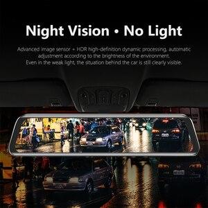 Image 4 - VVCAR V17 12 cal lusterko wsteczne kamera samochodowa Dashcam GPS FHD podwójny 1080P obiektyw wideorejestrator jazdy kamera na deskę rozdzielczą